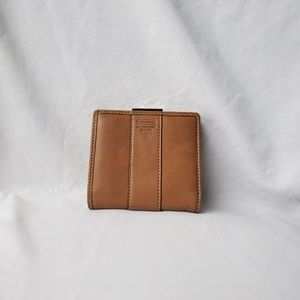 Coach Tan Bi-fold Leather Wallet